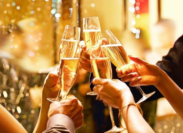 ¿Por qué celebramos con champán?